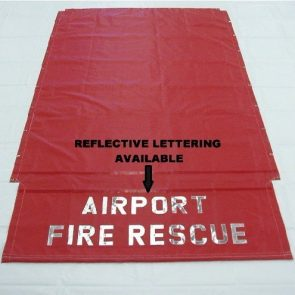 Fire Rescue Hose Bed Cover with Reflective Lettering