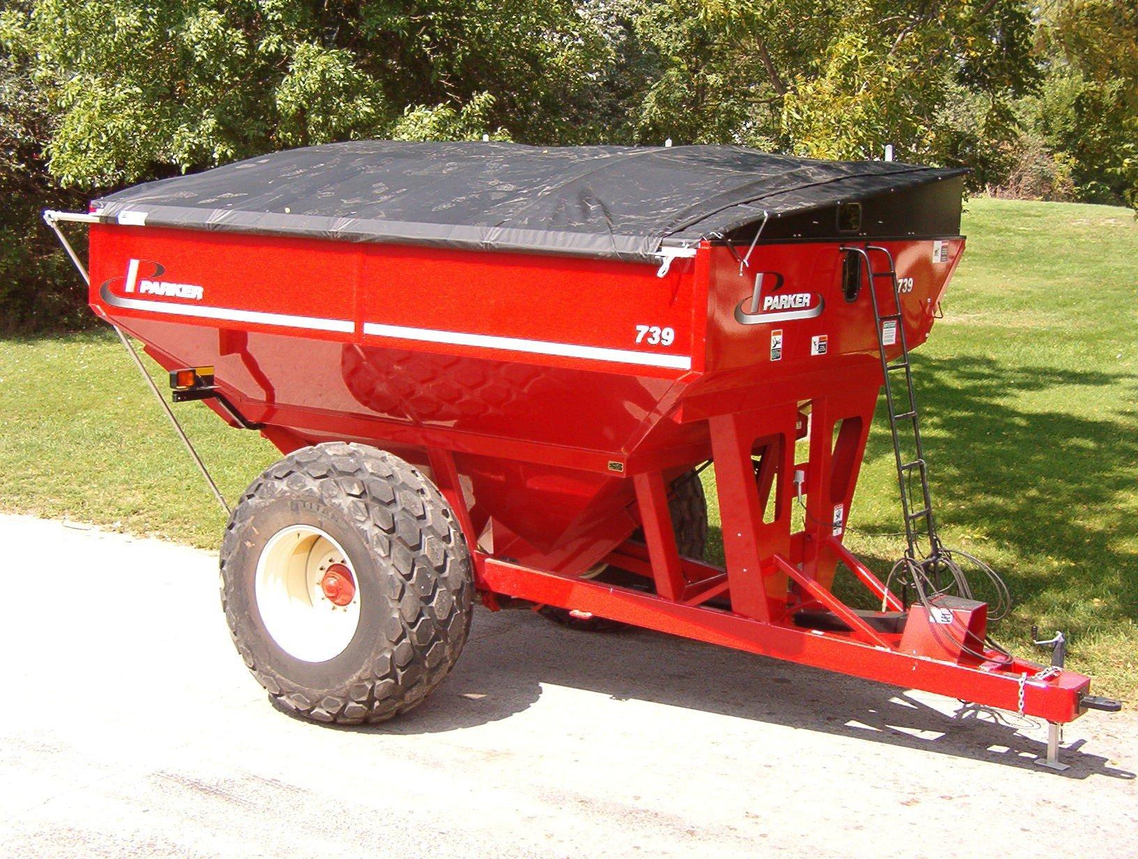 custom vinyl roll tarp cover for grain cart