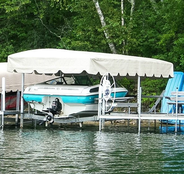 Lakeshore 24 X 120 Boat Lift Canopy Cover