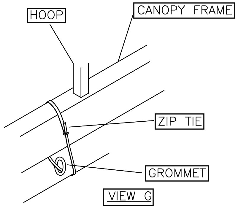 View G: Replacement Boat Lift Canopy Installation Instruction