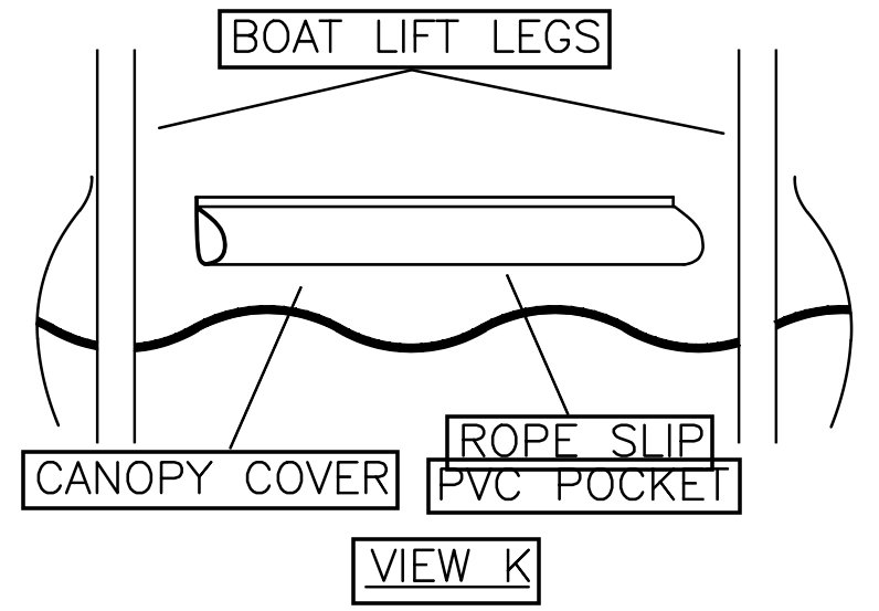 View K: Replacement Boat Lift Canopy Installation Instruction